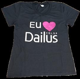 Camiseta Baby Look Dailus Color - Tamanho M
